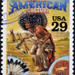 UNITED STATES OF AMERICA - CIRCA 1994 : Stamp printed in USA shows Native American culture in the American Old West, circa 1994 — Stock Photo