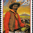 UNITED STATES OF AMERICA - CIRCA 1994: Stamp printed in USA show Bill Pickett, prominent Native American leader and medicine man of the Chiricahua Apache, circa 1994 - Stock Photo