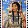 Stock Photo: UNITED STATES OF AMERIC- CIRC1994 : Stamp printed in USshow Sacagawea, circ1994
