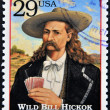 Stock Photo: UNITED STATES OF AMERIC- CIRC1994 : Stamp printed in USwith portrait Wild Bill HickoK, gunfighter, scout, lawman, circ1994