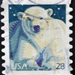 Stock Photo: UNITED STATES OF AMERIC- CIRC2009: stamp printed in USshows Polar Bear (Ursus maritimus), circ2009