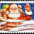 UNITED STATES OF AMERICA - CIRCA 1991: A stamp printed in USA shows Santa Claus, circa 1991 — Stock Photo