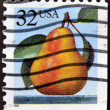 UNITED STATES OF AMERICA - CIRCA 1995: A stamp printed in USA shows pear, circa 1995 — Stock Photo
