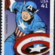 UNITED STATES OF AMERICA - CIRCA 2007: stamp printed in USA shows Captain America, circa 2007 - Stock Photo
