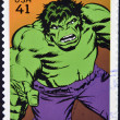 UNITED STATES OF AMERICA - CIRCA 2007: stamp printed in USA shows Hulk, circa 2007 - Stock Photo
