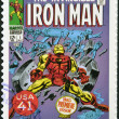 UNITED STATES OF AMERICA - CIRCA 2007: stamp printed in USA shows Iron Man, circa 2007 - Stock Photo