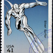 Stock Photo: UNITED STATES OF AMERICA - CIRCA 2007: stamp printed in USA shows Silver Surfer, circa 2007
