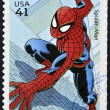 UNITED STATES OF AMERIC- CIRC2007: stamp printed in USshows Spider-man, circ2007 — Stock Photo #10221419