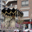 GRANADA, SPAIN - APRIL 6: Our Lady of love and work in procession on April 6, 2012 in Granada, Spain. - Stock Photo