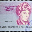 ROMANIA - CIRCA 1985: A stamp printed in romania shows Amelia Earhart Putnam, circa 1985 — Stock Photo