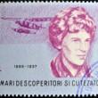ROMANIA - CIRCA 1985: A stamp printed in romania shows Amelia Earhart Putnam, circa 1985 — Stock Photo #10224277