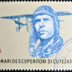 ROMANIA - CIRCA 1985: stamp printed in Romania show Charles Lindbergh, Spirit of St. Louis, circa 1985. — Stock Photo #10224316
