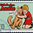 UNITED STATES OF AMERICA - CIRCA 1995: A stamp printed in USA dedicated to comic strip classics, shows Little Orphan Annie, circa 1995 — Stock Photo #10224342