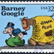 UNITED STATES OF AMERICA - CIRCA 1995: A stamp printed in USA dedicated to comic strip classics, shows Barney Google, circa 1995 — Stock Photo