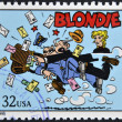 UNITED STATES OF AMERICA - CIRCA 1995: A stamp printed in USA dedicated to comic strip classics, shows Blondie, circa 1995 — Stok fotoğraf