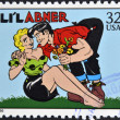UNITED STATES OF AMERICA - CIRCA 1995: A stamp printed in USA dedicated to comic strip classics, shows Lil Abner, circa 1995 — Stock Photo