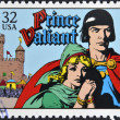 UNITED STATES OF AMERIC- CIRC1995: stamp printed in USdedicated to comic strip classics, shows Prince Valiant, circ1995 — Stock Photo #10224429