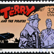 UNITED STATES OF AMERIC- CIRC1995: stamp printed in USdedicated to comic strip classics, shows Terry and pirates, circ1995 — Stock Photo #10224448