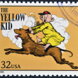 UNITED STATES OF AMERIC- CIRC1995: stamp printed in USdedicated to comic strip classics, shows yellow kid, circ1995 — Stock Photo #10224460
