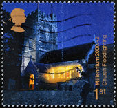 UNITED KINGDOM - CIRCA 2000: A stamp printed in England, is dedicated to Church floodlighting project, circa 2000 — Stock Photo