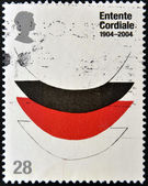 UNITED KINGDOM - CIRCA 2004: A stamp printed in Great Britain dedicated to Centenary of the Entente Cordiale, circa 2004 — Stock Photo