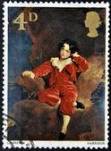 İngiltere - 1967 yaklaşık: pul i̇ngiltere gösterir, genç lambton sör thomas tarafından basılan lawrence, 1967 yaklaşık — Stok fotoğraf