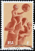 SOUTH AFRICA - CIRCA 1976: A stamp printed in RSA honoring Family planing, circa 1976 — Stock Photo