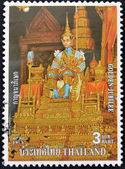 THAILAND - CIRCA 1996: A stamp printed in Thailand shows the king, golden jubilee, circa 1996 — Stock Photo