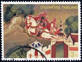 таиланд - около 1998: штамп напечатан в таиланде, посвященный дню visakhapuja, около 1998 — Стоковое фото