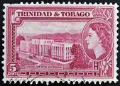 Trinidad ve tobago - 1950 dolaylarında: trinidad basılmış damga genel postane ve hazine, 1953 yaklaşık gösterir — Stok fotoğraf
