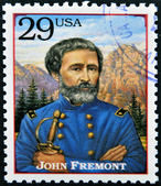 UNITED STATES OF AMERICA - CIRCA 1994 : Stamp printed in USA shows portrait of the John Fremont, circa 1994 — Stock Photo