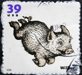 UNITED STATES OF AMERICA - CIRCA 2006: A stamp printed in USA shows Wilbur, circa 2006 — Stock Photo