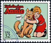 UNITED STATES OF AMERICA - CIRCA 1995: A stamp printed in USA dedicated to comic strip classics, shows Little Orphan Annie, circa 1995 — Stock Photo