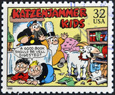 UNITED STATES OF AMERICA - CIRCA 1995: A stamp printed in USA dedicated to comic strip classics, shows katzenjammer kids, circa 1995 — Stock Photo