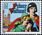 UNITED STATES OF AMERICA - CIRCA 1995: A stamp printed in USA dedicated to comic strip classics, shows Prince Valiant, circa 1995 — Stock Photo
