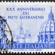 ITALY - CIRCA 1959: A stamp printed in Italy dedicated to xxx anniversary of the Lateran Treaty, circa 1959 — Stock Photo