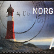 NORWAY - CIRCA 2005: A stamp printed in Norway shows a lighthouse, circa 2005 - Stock Photo