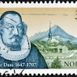 Royalty-Free Stock Photo: NORWAY - CIRCA 1997: A stamp printed in Norway shows Petter Dass, circa 1997