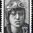 UNITED STATES OF AMERICA - CIRCA 1995: A stamp printed in USA showing pilot Bessie Coleman,Black Heritage, circa 1995 — Stock Photo