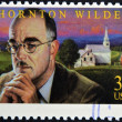 UNITED STATES OF AMERICA - CIRCA 1997: A stamp printed in USA shows Thornton Wilder, circa 1997 — Foto Stock