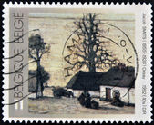 BELGIUM - CIRCA 1992: A stamp printed in Belgium shows a painting by Jacob Smits — Stock Photo