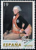 SPAIN - CIRCA 1996: A stamp printed in Spain shows General Don Antonio Ricardos by Francisco de Goya, circa 1996 — Stockfoto