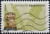 FRANCE - CIRCA 2007: A stamp printed in France dedicated to ancient Egypt, shows Egyptian funerary stela, circa 2007 — Stock Photo