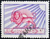 IRAN - CIRCA 1976: A stamp printed in Iran shows Red Lion and Sun Society, circa 1976 — Stock fotografie