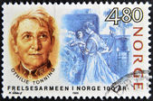 NORWAY - CIRCA 1988: A stamp printed in Norway shows Othilie Tonning, circa 1988 — Stock Photo