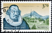 NORWAY - CIRCA 1997: A stamp printed in Norway shows Petter Dass, circa 1997 — Stock Photo