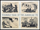 UNITED STATES OF AMERICA - CIRCA 1972: American postal dedicated to tourism year of the Americas, 1972 — Photo