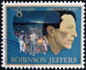 UNITED STATES OF AMERICA- CIRCA 1973: Postage stamp printed in USA shows the portrait of American poet Robinson Jeffers, circa 1973 — Stock Photo