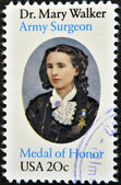 UNITED STATES OF AMERICA - CIRCA 1982: stamp printed in USA shows Mary Walker, circa 1982 — Stock Photo