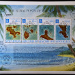The map of the different islands Seychelles - Stock Photo